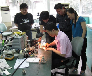 Flexible endoscope repair training (Korean trainee)
