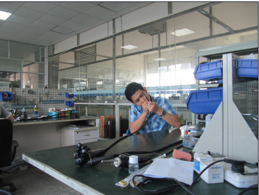 Flexible endoscope repair training for Thailand engineer